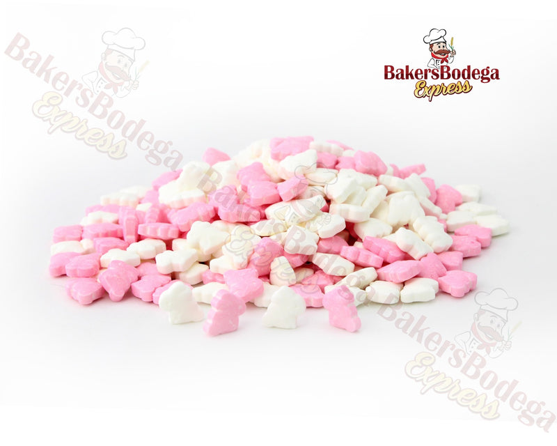 Pink and White Bunny Sprinkles