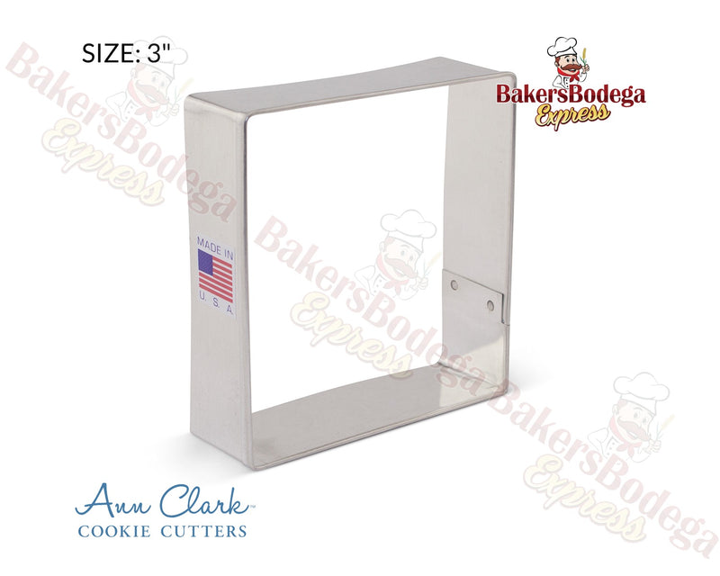"Square 3"" Cookie Cutter"