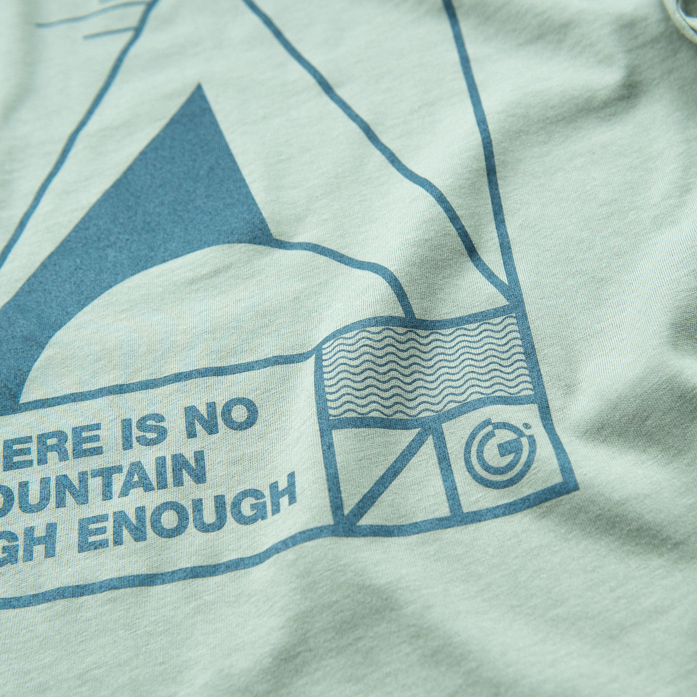There is no mountain high enough, Mens Organic Long Sleeve Tee from OFFGRID Clothing