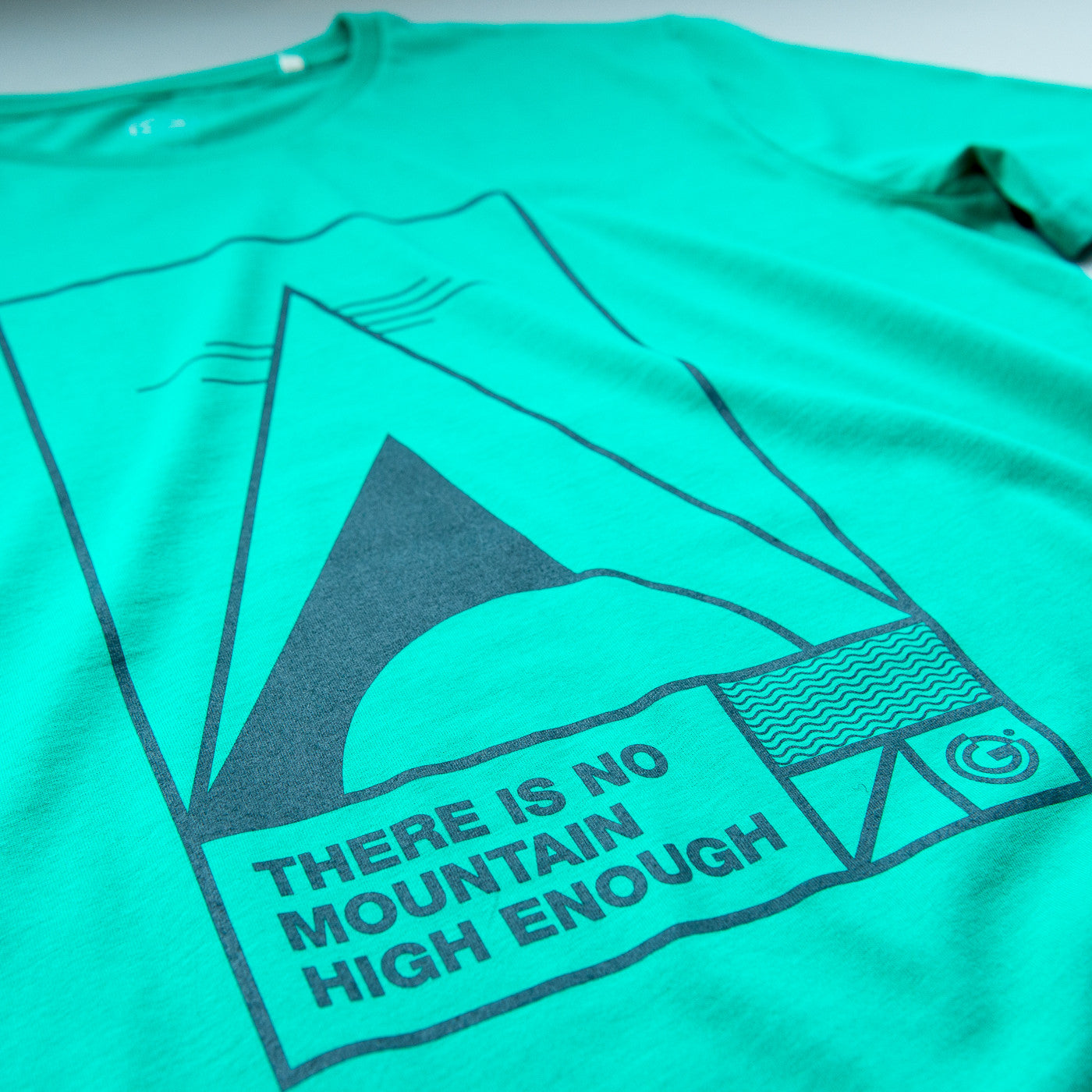 There is no mountain high enough, Mens Organic Tee from OFFGRID Clothing