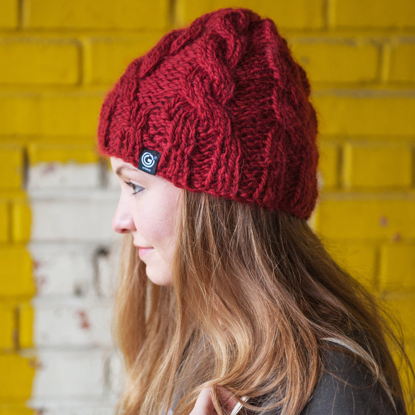 Chunky Cable Beanie from OFFGRID Clothing - Berry