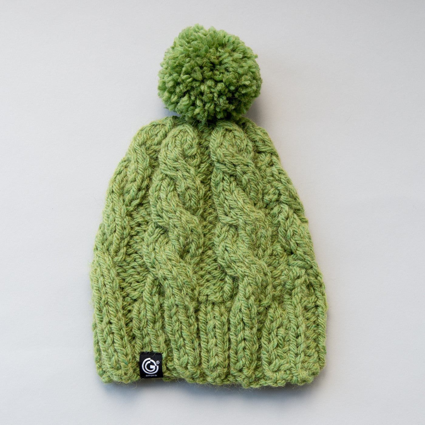 Chunky Cable Beanie with bobble - Ivy