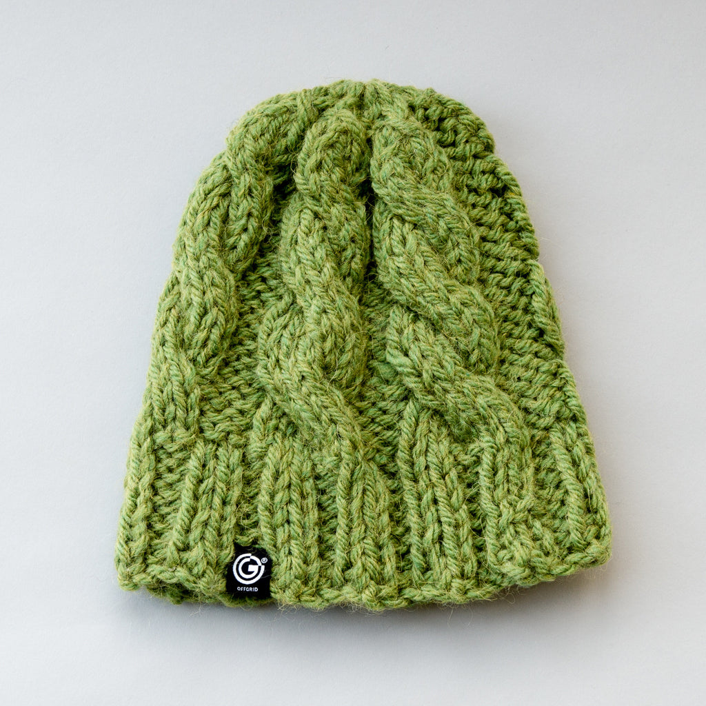 Chunky Cable Beanie - Ivy