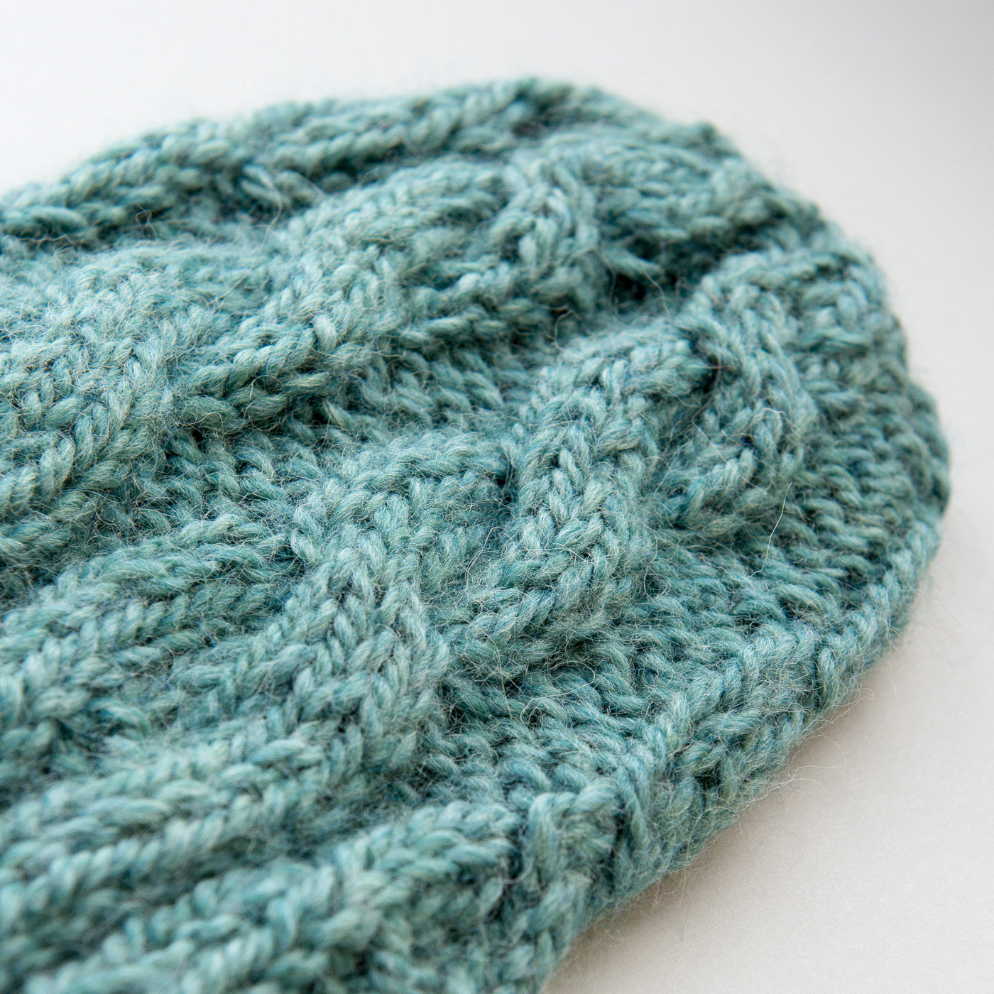 Chunky Cable Beanie - Sea Green