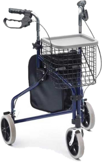Australian Mobility Aid Equipment For Elderly Navy Walker With Basket