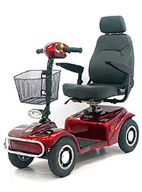 Australian Mobility Aid Equipment For Elderly Dark Red And Grey Scooter