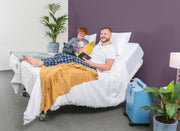 Adjustable Electric Beds Australia Couple In Different Height Bed Raised back