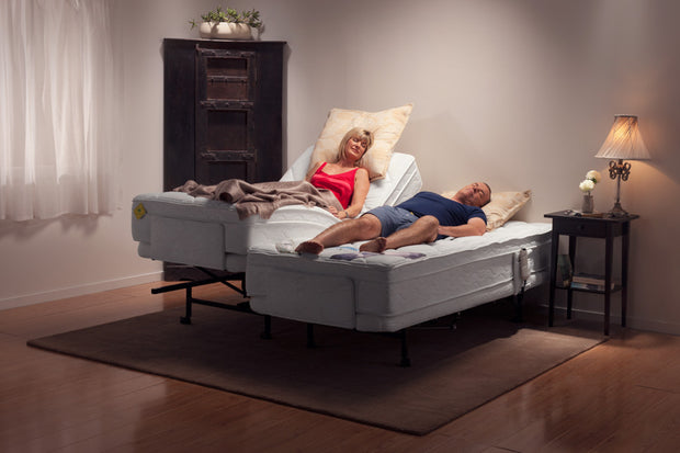 Adjustable Electric Beds Australia Couple In Different Height Bed