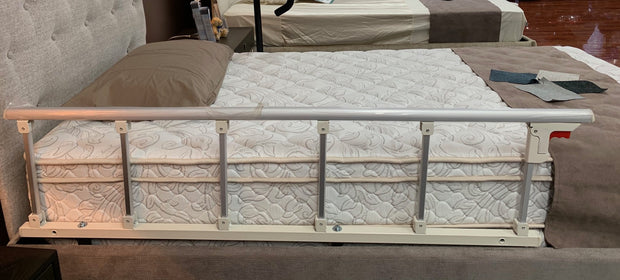 Adjustable Electric Beds Side View Of Bed With Side Rails Attached