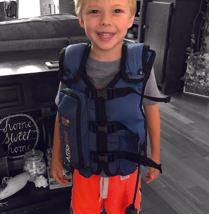 Afflovest Little Boy Wearing Vest