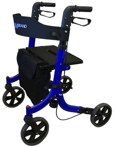 Redgum Compact Side Folding Walker Side View Blue