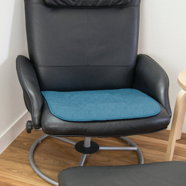 "Small Chair Pad - Absorbent & Waterproof  Incontinence Aid - 48x48cm (19"" x 19"") - Teal Blue"