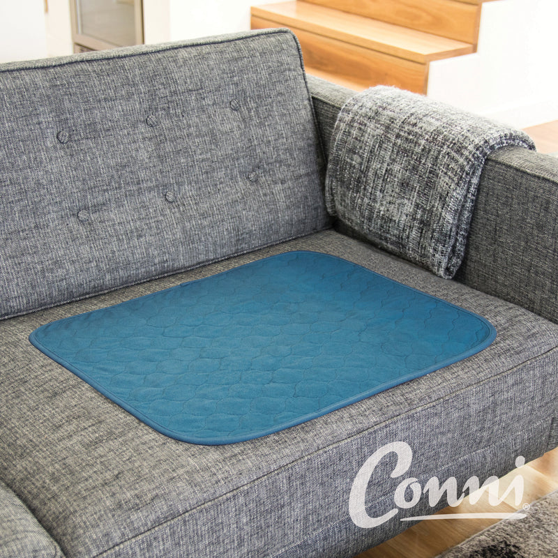 "Large Chair Pad - Absorbent & Waterproof  Incontinence Aid - 51x61cm (20"" x 24"") - Teal Blue"
