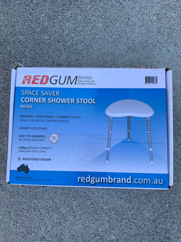 Space Saver Corner Shower Stool