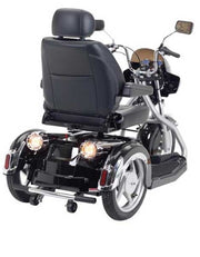 Electric Mobility Scooter Black Rear View