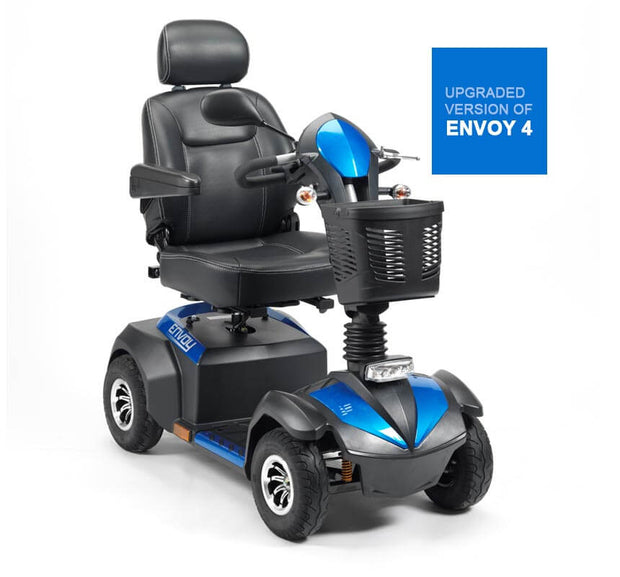Portable Electric Mobility Scooter Narrow Black Blue