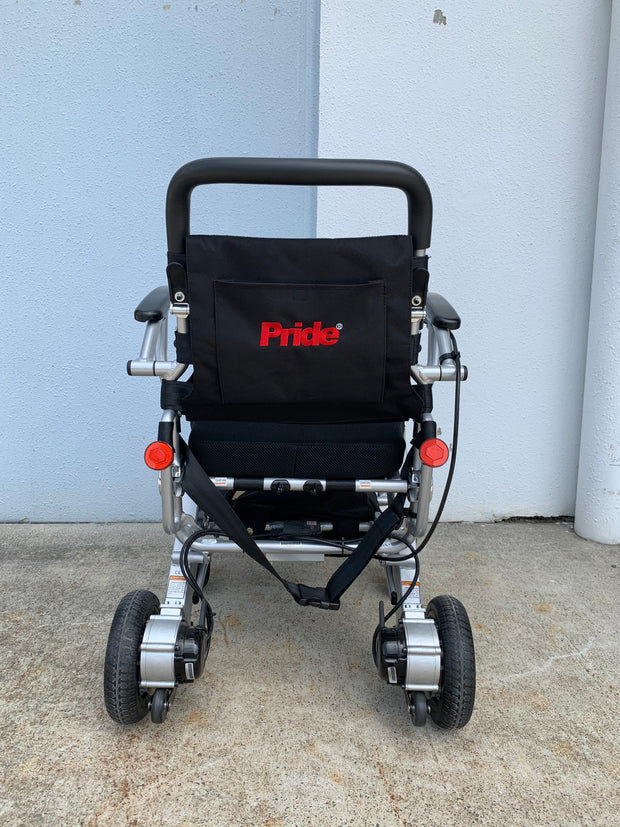 Pride iGo Portable Folding Powerchair rear view