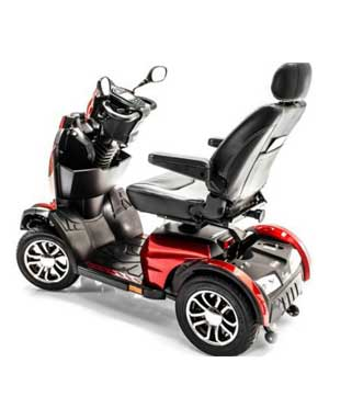 King Cobra Mobility Scooter Rear View Red And Black