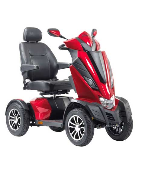 King Cobra Mobility Scooter Side Profile Red