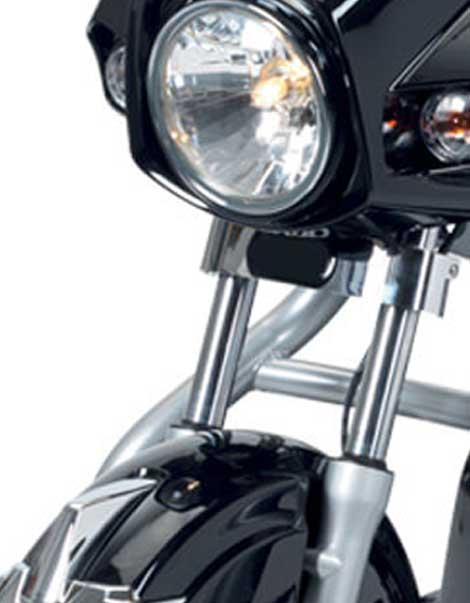 Electric Mobility Scooter Black Front Light