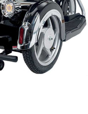 Electric Mobility Scooter Black Side Wheel View
