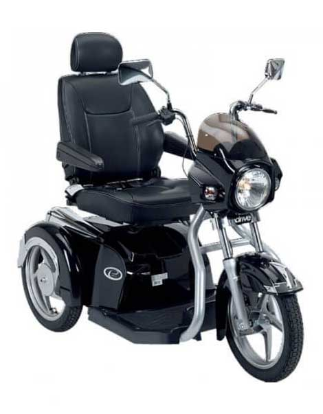 Electric Mobility Scooter Black Side View