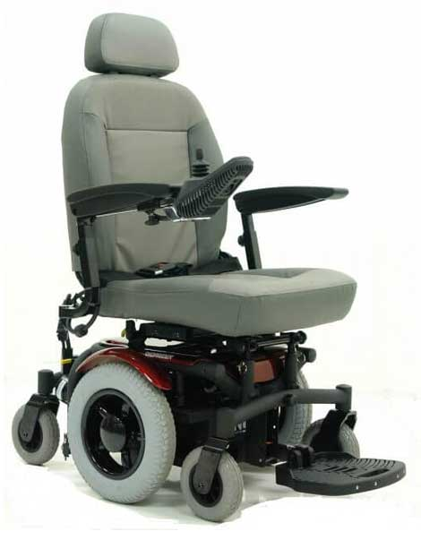 Power Wheelchairs Red Grey Chair