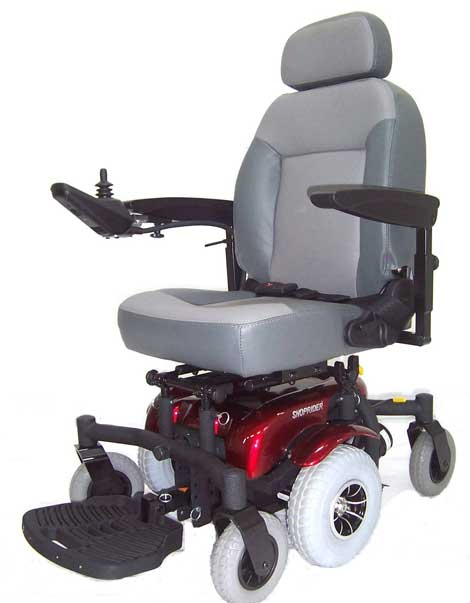 Power Wheelchairs Side View Grey Chair