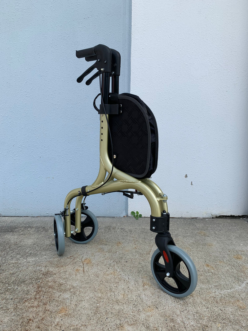 Lightweight Tri Walker Black Gold Right Angle View