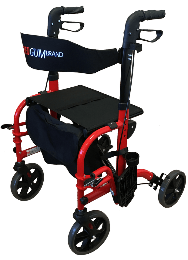 Redgum Seat Walker & Occasional Transit Chair RG4408 avail in red , blue or white
