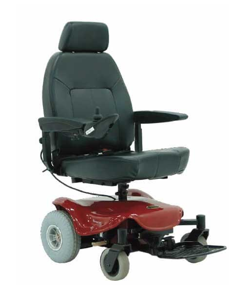 Power Wheelchairs Black Red Chair