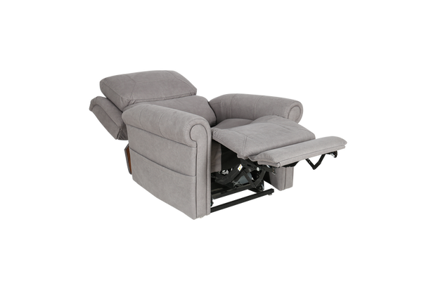 Theorem Studio Dual Motor Lift Chair Santa Barbara Fog with Headrest and Lumbar Adjustment
