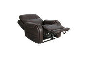 Pride Mobility Australia Padded Brown Recliner Lumber adjusted view
