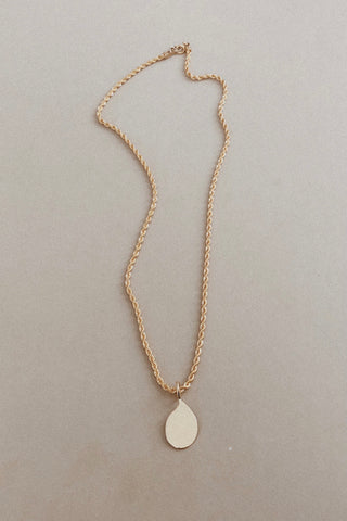 Droplet Necklace II | Link or Rope Chain