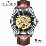 Men Watches Automatic Mechanical Watch Male Tourbillon Clock Gold Fashion Skeleton Watch Top Brand Wristwatch Relogio Masculino