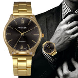 Fashion Man Crystal Stainless Steel Analog Quartz Wrist Watch Mens Watches Top Brand Luxury Relojes Hombre 2018 Erkek Kol Saati