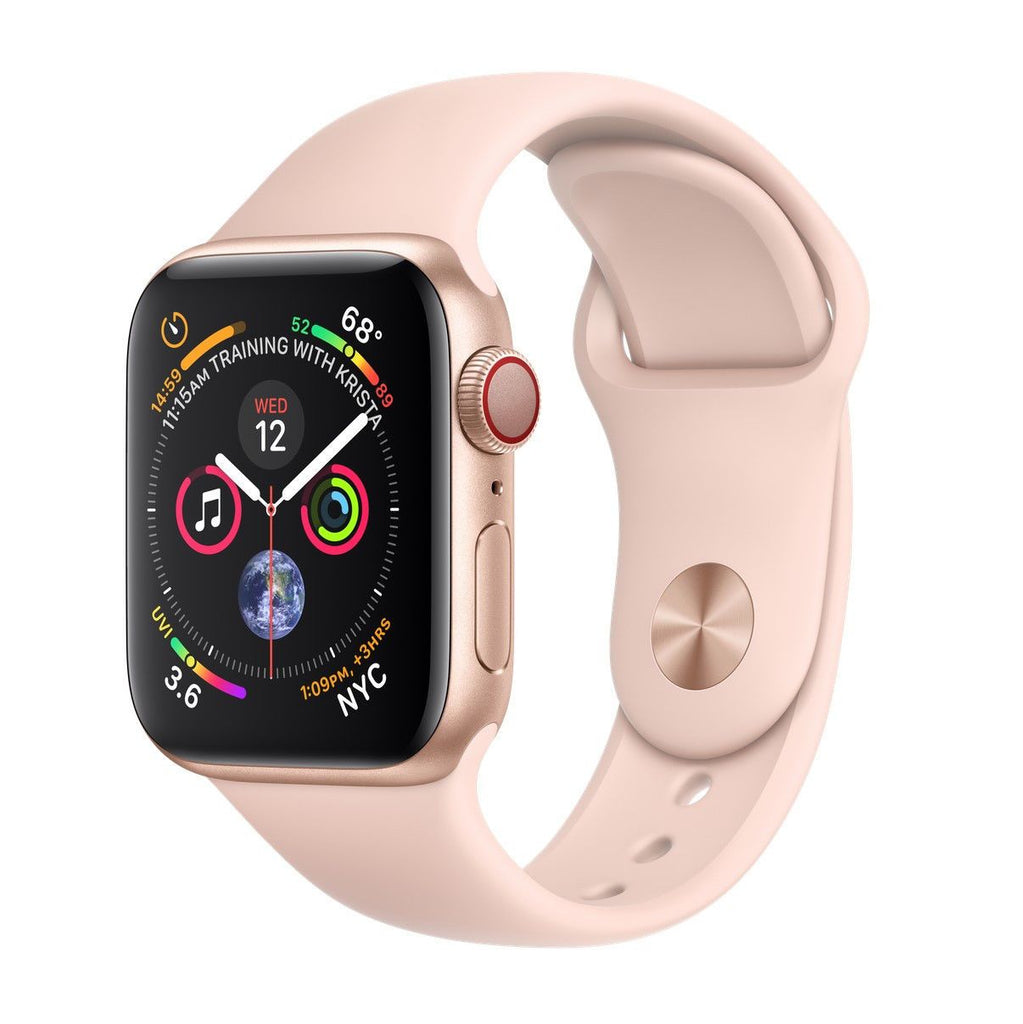 Apple Watch Series 4 40 mm Gold Alu Case with Pink Sport Band (GPS Cellular)