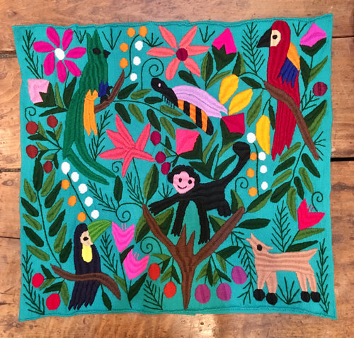 PILLOW COVER - Monkey & Parrot