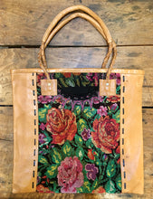 Load image into Gallery viewer, TOTE - Huipil and Leather Tote - 3 Colors