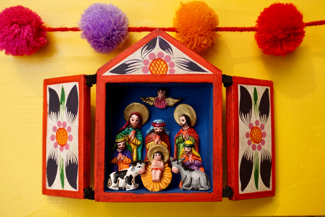 NATIVITY NICHO - Small Nativity Nicho Peru