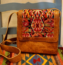 Load image into Gallery viewer, PURSE - Guatemalan Leather Huipil Crossbody Purse - Adjustable