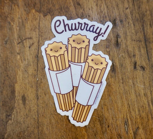 "STICKER - Churro ""Churray"" Vinyl Sticker"