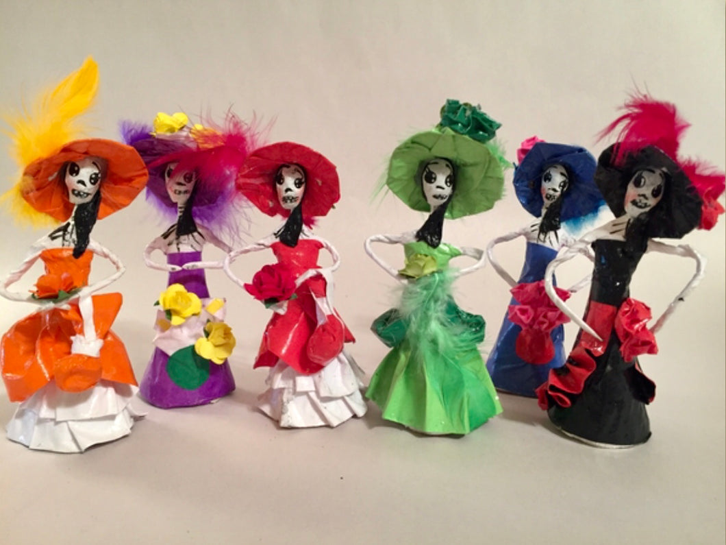CATRINA - Miniature Catrina With Flowers
