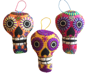 DAY OF THE DEAD - Hand Embroidered Calavera