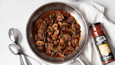 Whole30 Sauteed Cremini Mushrooms with Good Food For Good