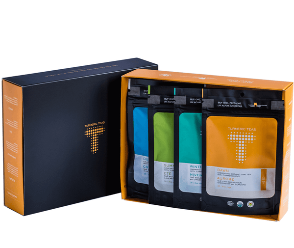 Ultimate Gift Guide For Brands That Give Back by Good Food For Good - Turmeric Teas