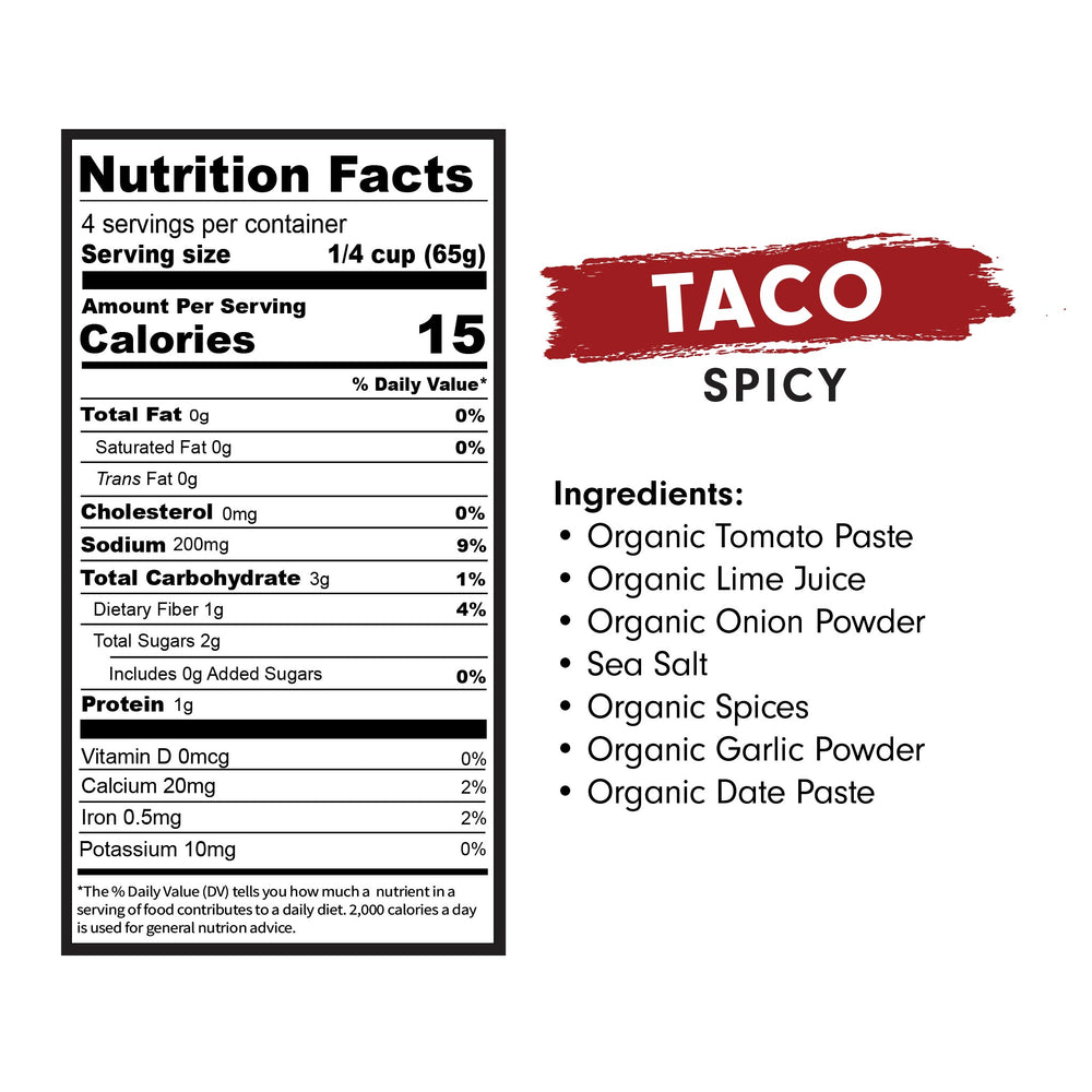 Load image into Gallery viewer, taco sauce, mexican sauces for tacos, organic mexican sauces, taco sauce by good food for good, cooking sauces, keto sauces