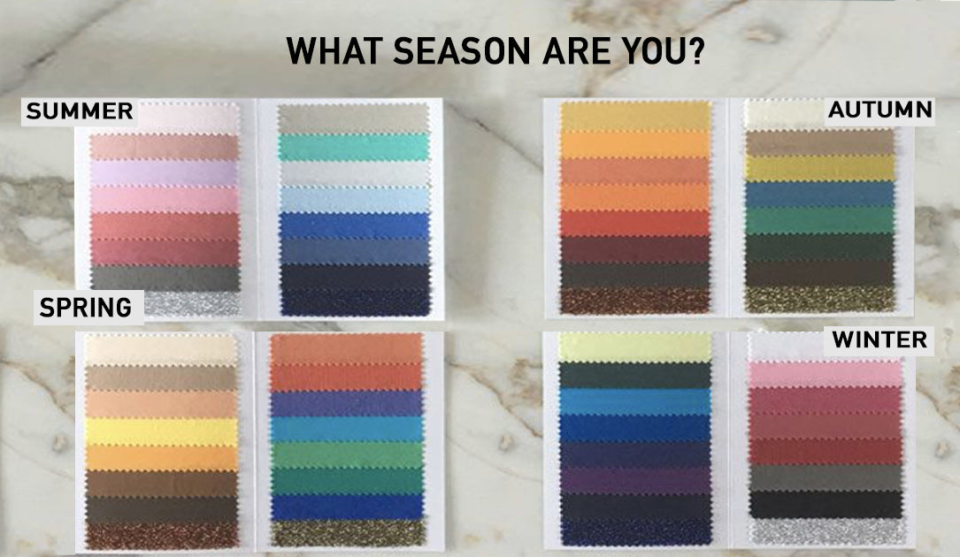 The seasonal colour analysis. What colour suits you best?