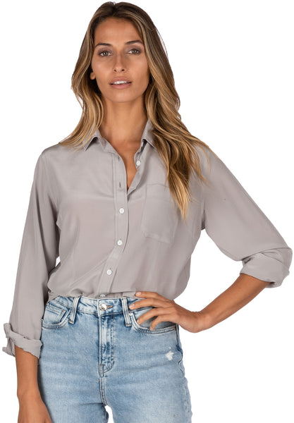 grey gray blouse shirt ultimate grey