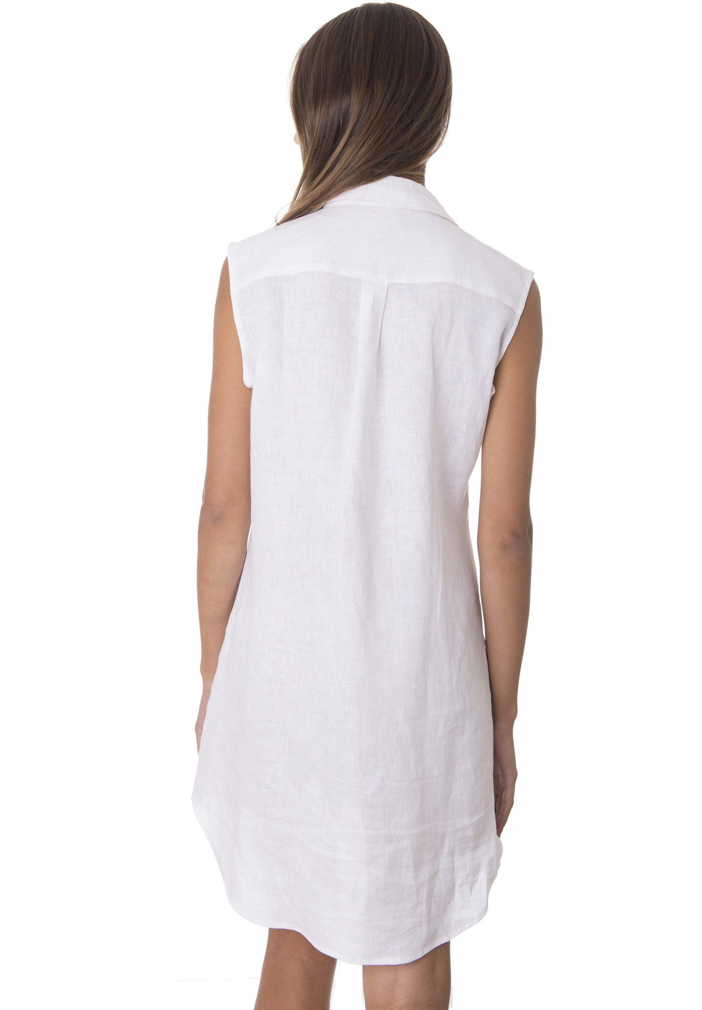 Bia White, Sleeveless Summer Shirt-dress